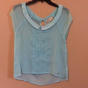 Hollister Tiffany Blue Blouse